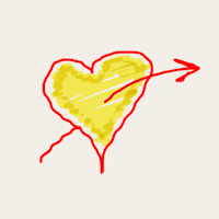 Icon Heart with arrow